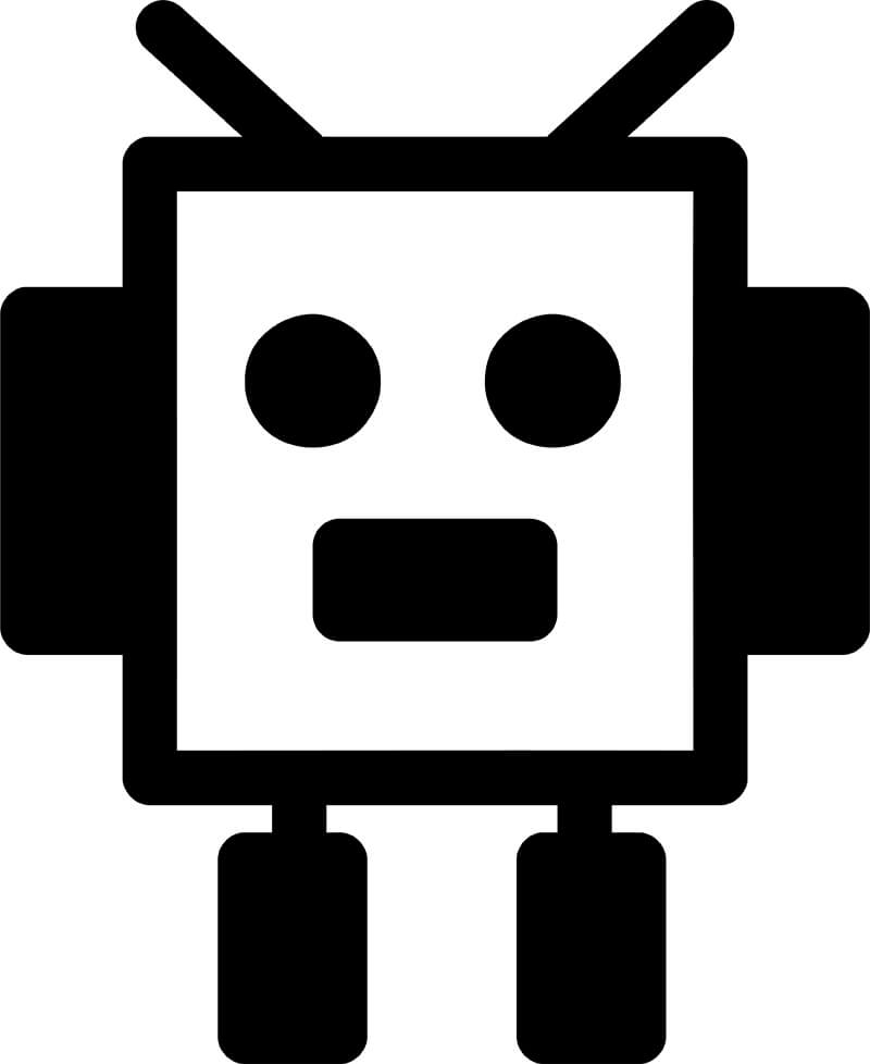 Little square robot icon